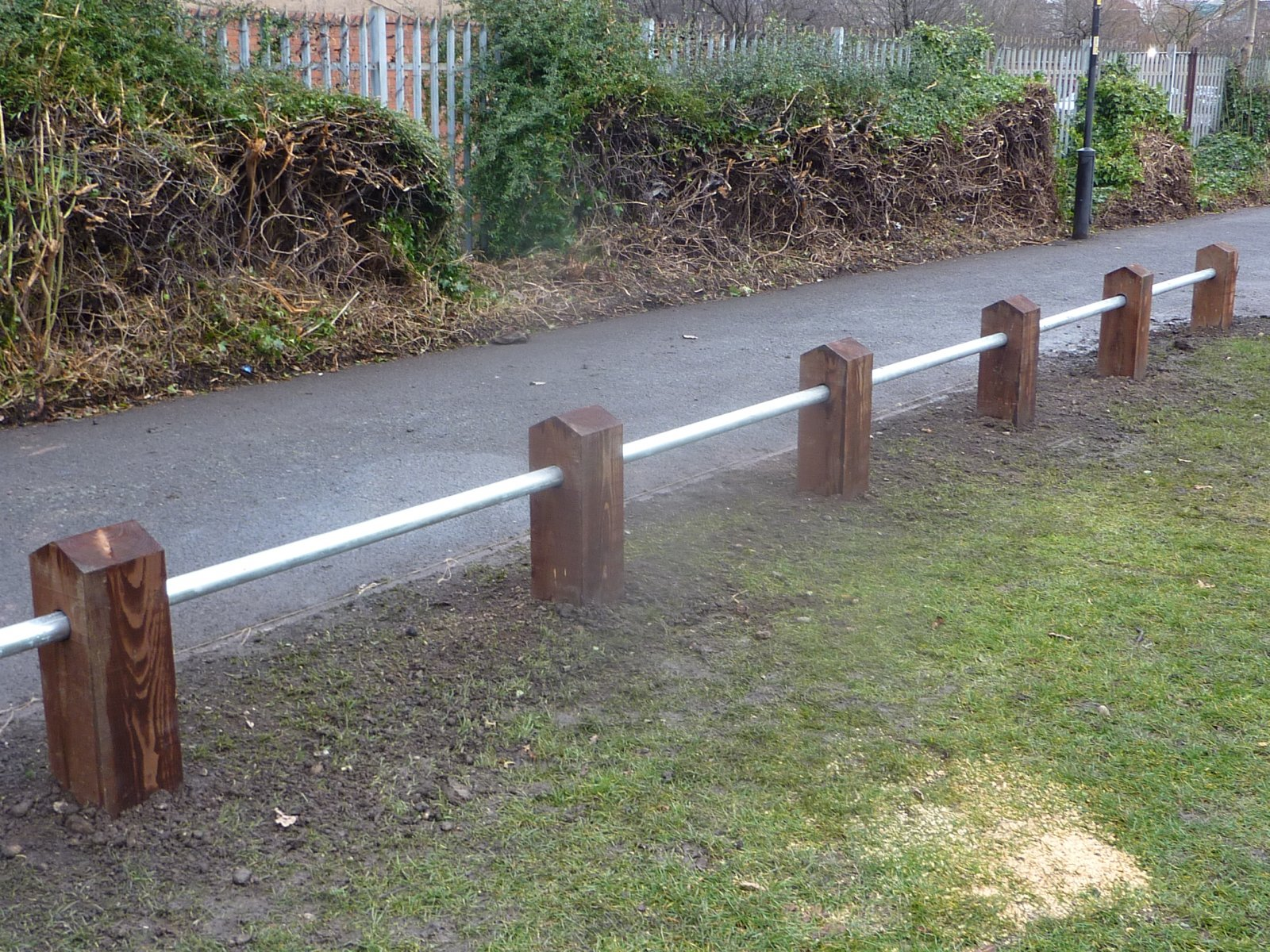 Ditch protection fencing...