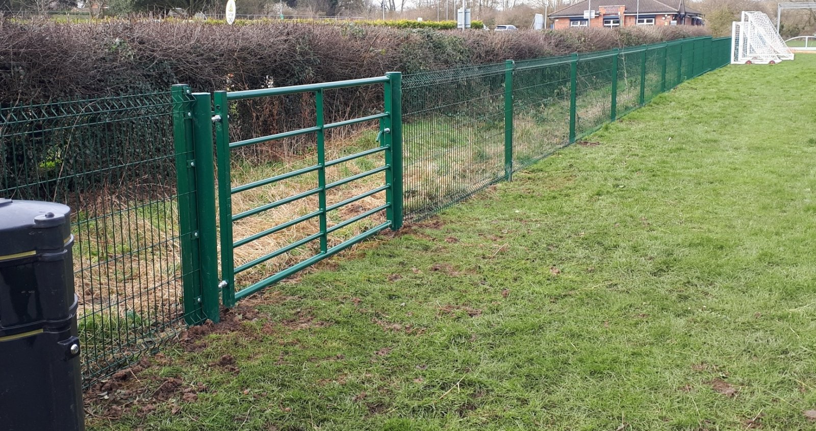 Ditch protection for Leicestershire sports ground